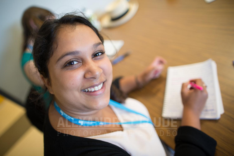 Une participante du Profil Entrepreneuriat.