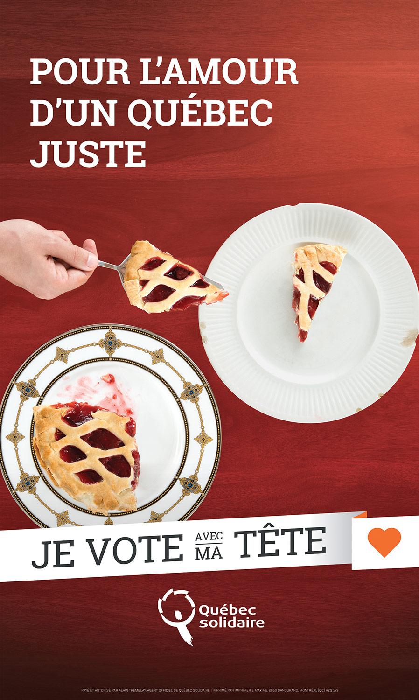 Photo pour affiche électorale de Québec solidaire