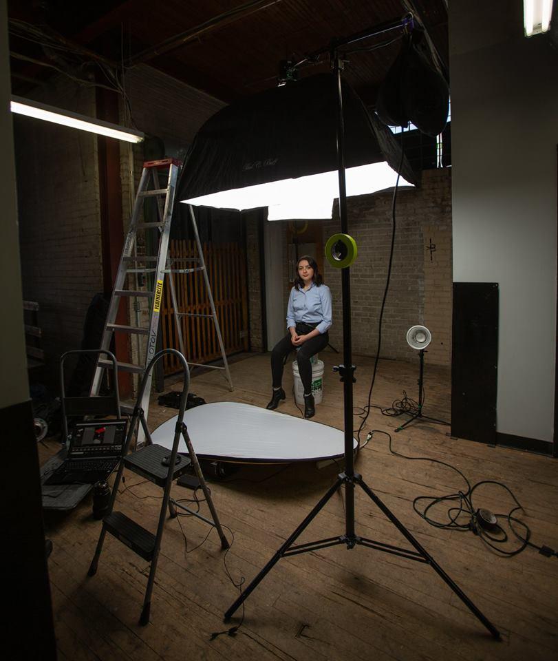Une photo du set-up de la séance.