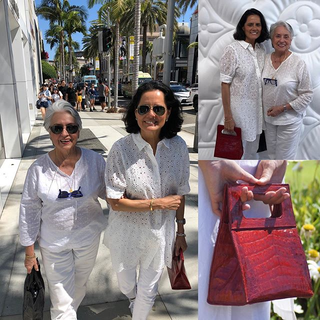 Having fun with my mom in BH carrying my Mini Camden #minibag #red #motherdaughter #summerstyle #mystyle #louisvuitton #beverlyhills #reynaicaza