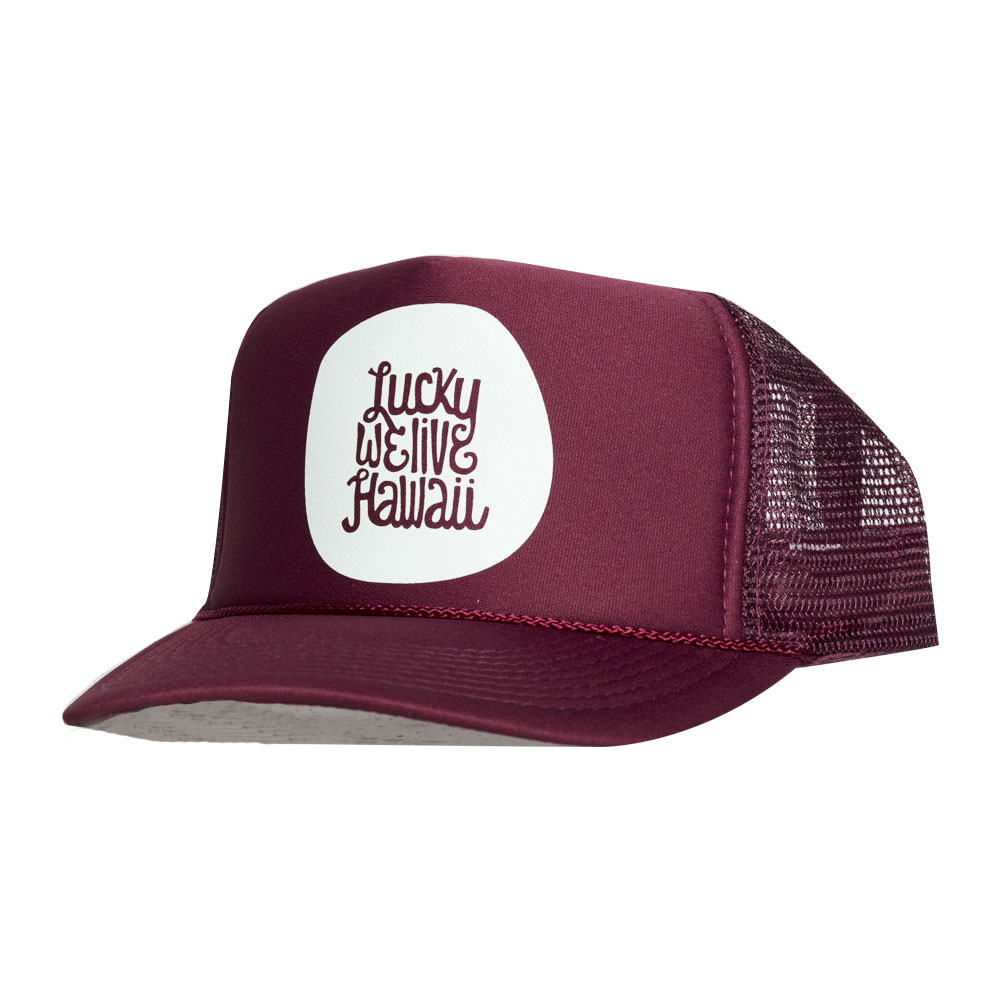 Maroon/Mint Trucker Hat