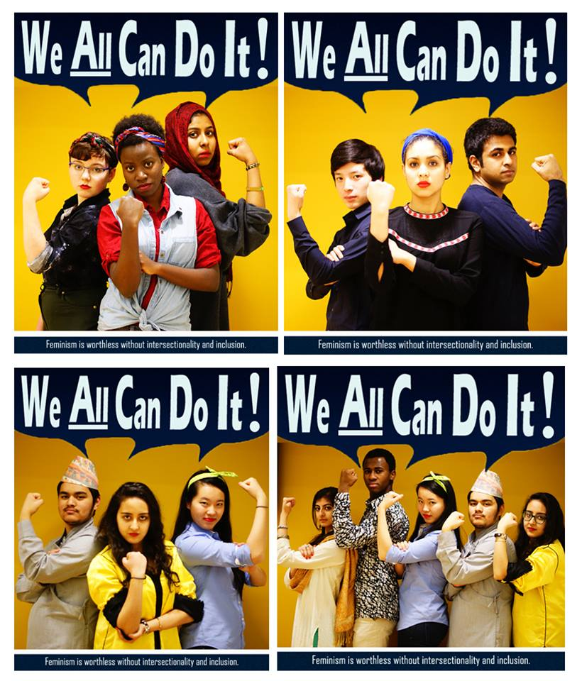 """We All Can Do It"", Winner of the Yale Women's Center ""Feminism Today"" Essay and Art Competition - Source: Houriiyah Tegally BR '16 and Julia Jenjezwa MC '16"