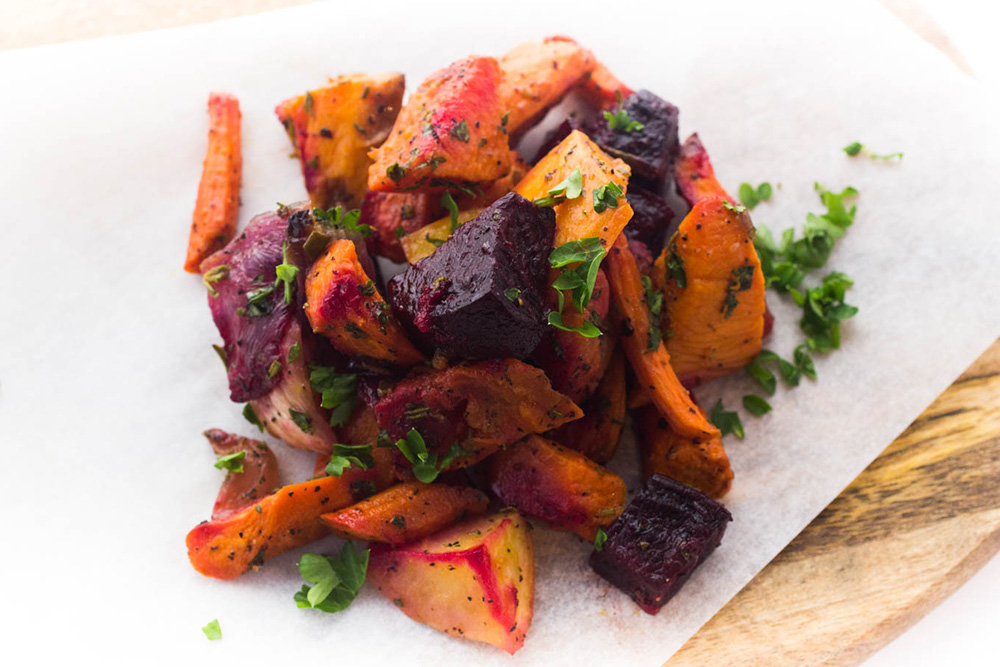 Mixed RoasteD root vegetables