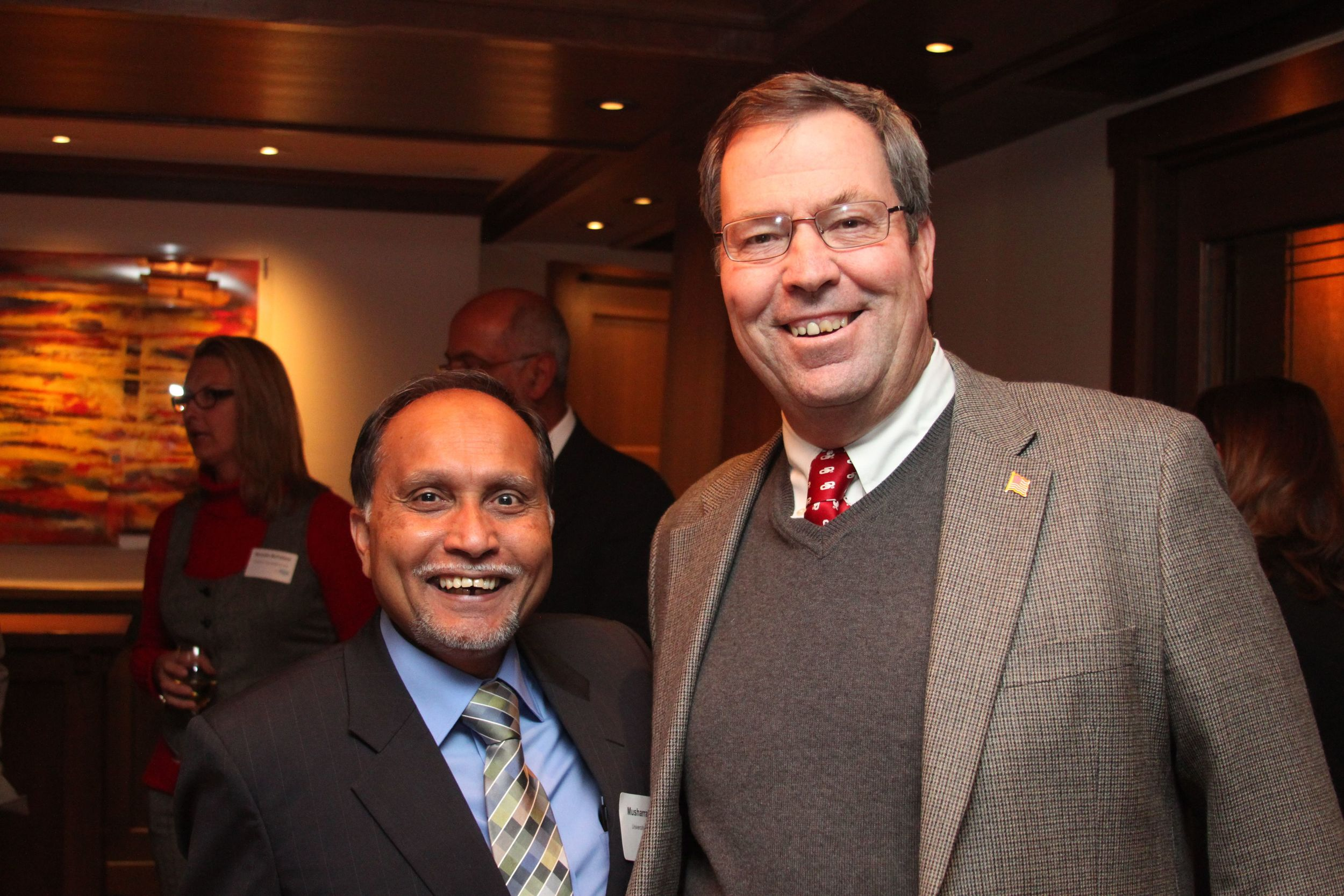 Dr. Zaman welcomes David Streb, Director of Engineering for the Okla. Dept. of Transportation.