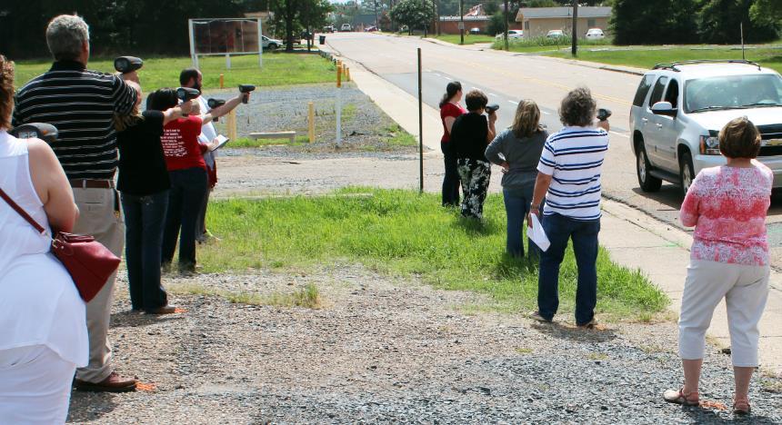 Figure 3: High school teachers use radar guns for math activity