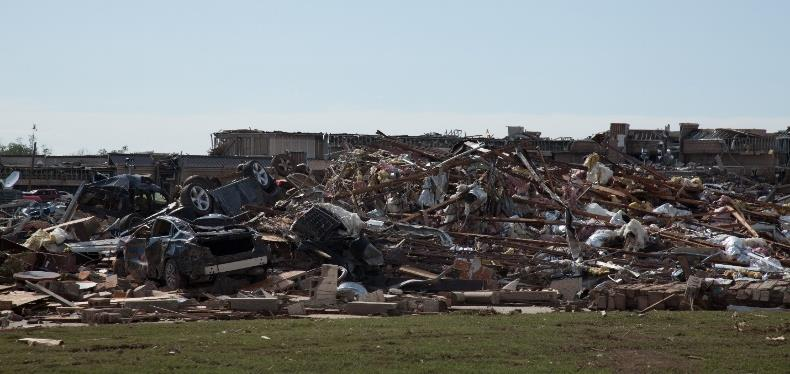 Photo credit: Russell Perkins/ODOT   Figure 3 Tornado Damage in Moore, Oklahoma