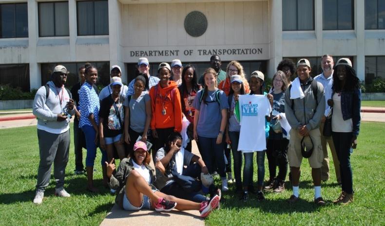 Figure 1: LUTA students visit ODOT
