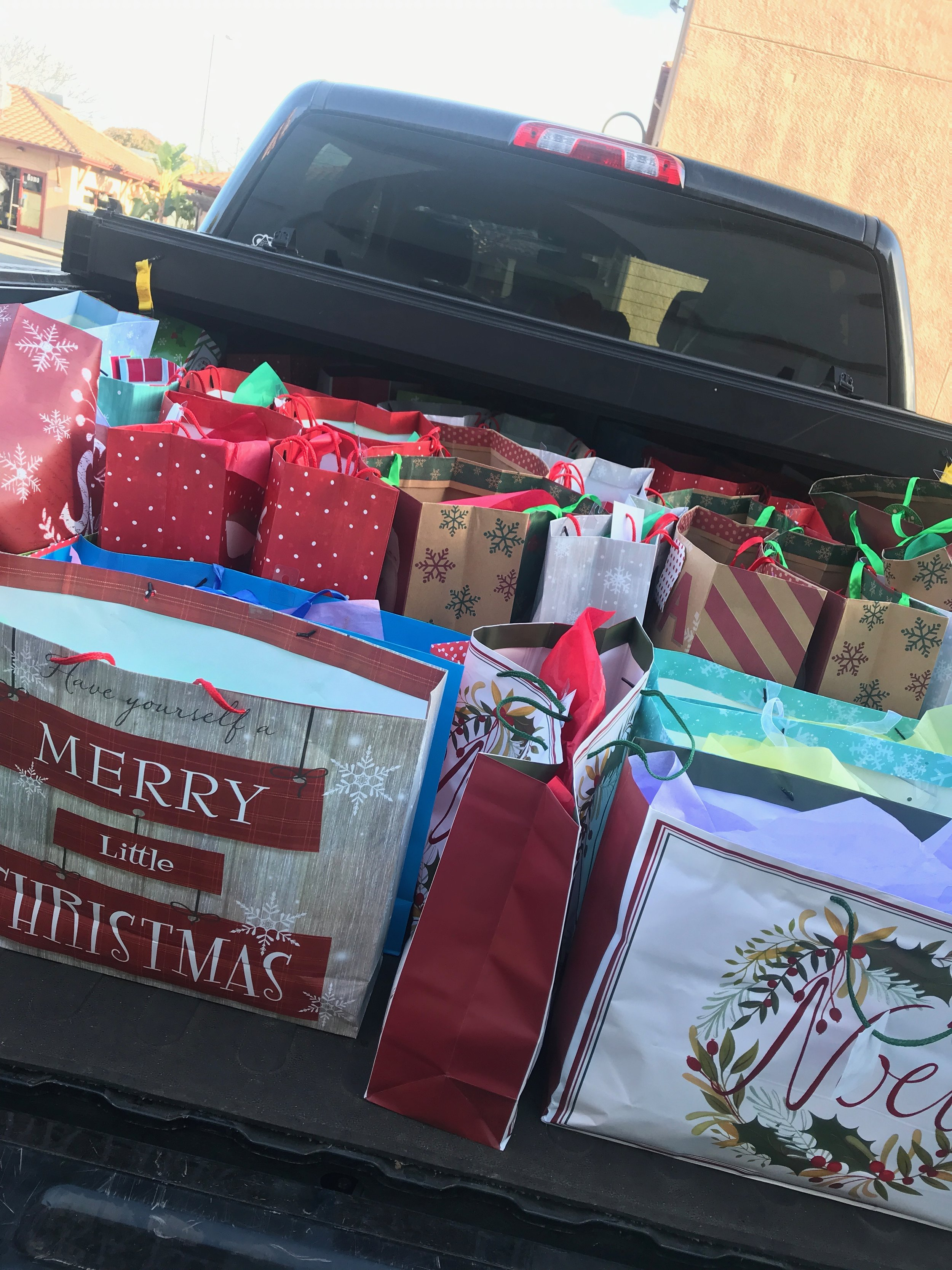 Over 200 Gift Bags Were Created Last Year To Help The Homeless. - This Truck Was Filled up Multiple Times