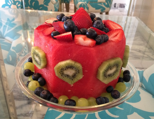 My birthday cake in 2015 - Made entirely of fruit.