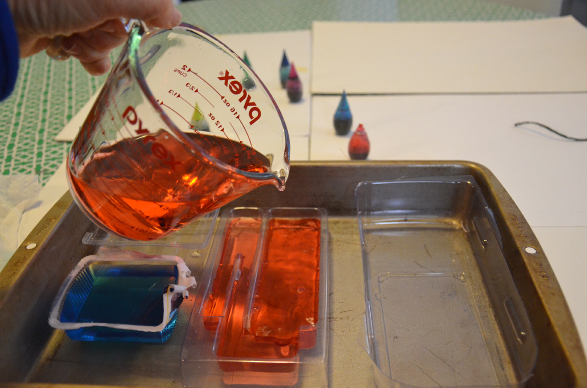 Pouring into the Molds