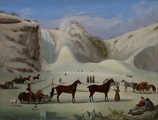 Robert Clow Todd  The Ice Cone, Montmorency Falls, Quebec  1866