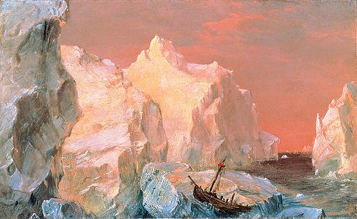 Frederic Edwin Church  Wreck in Sunset 1860