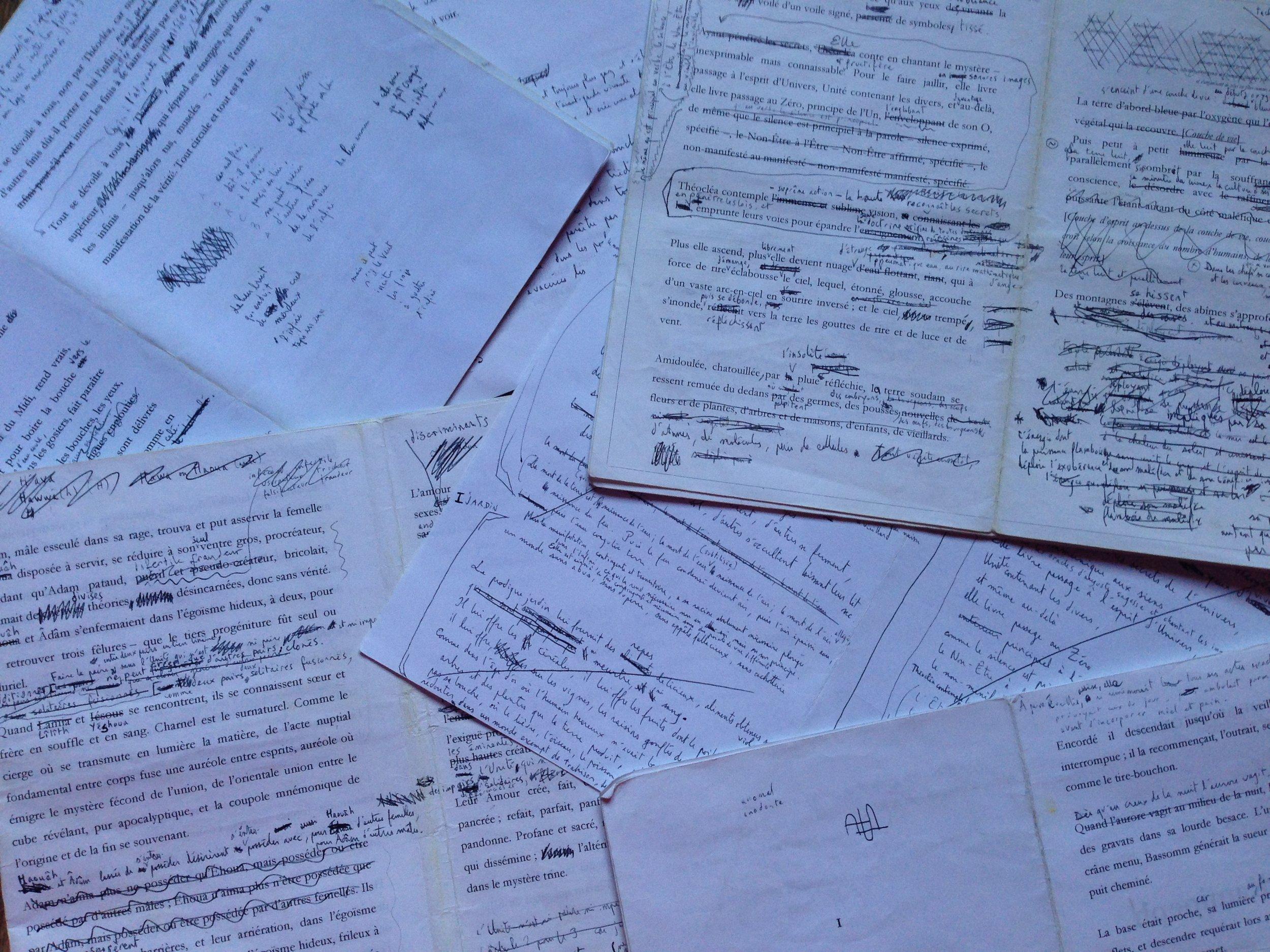 Brice Bonfanti (2009) Brouillons du Chant III. Théocléa