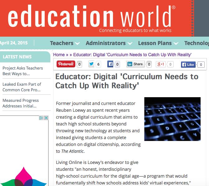 Education World, April 24th 2015