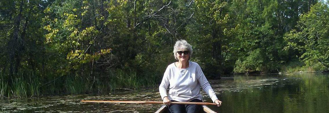Leslie at home on the Black River, Georgina, Ontario. Photo: Kim Sedore