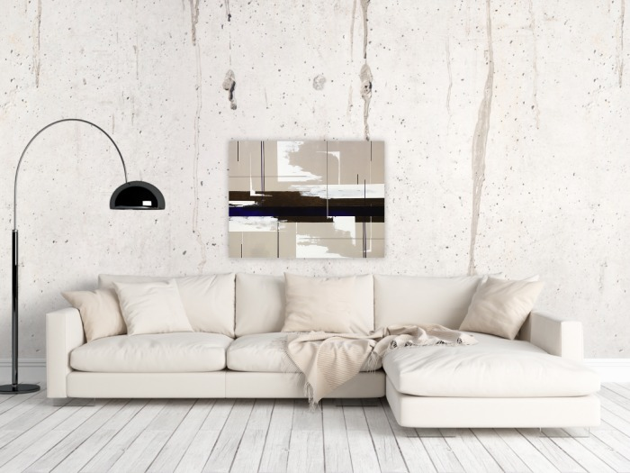 Extra large modern painting in neutral colors