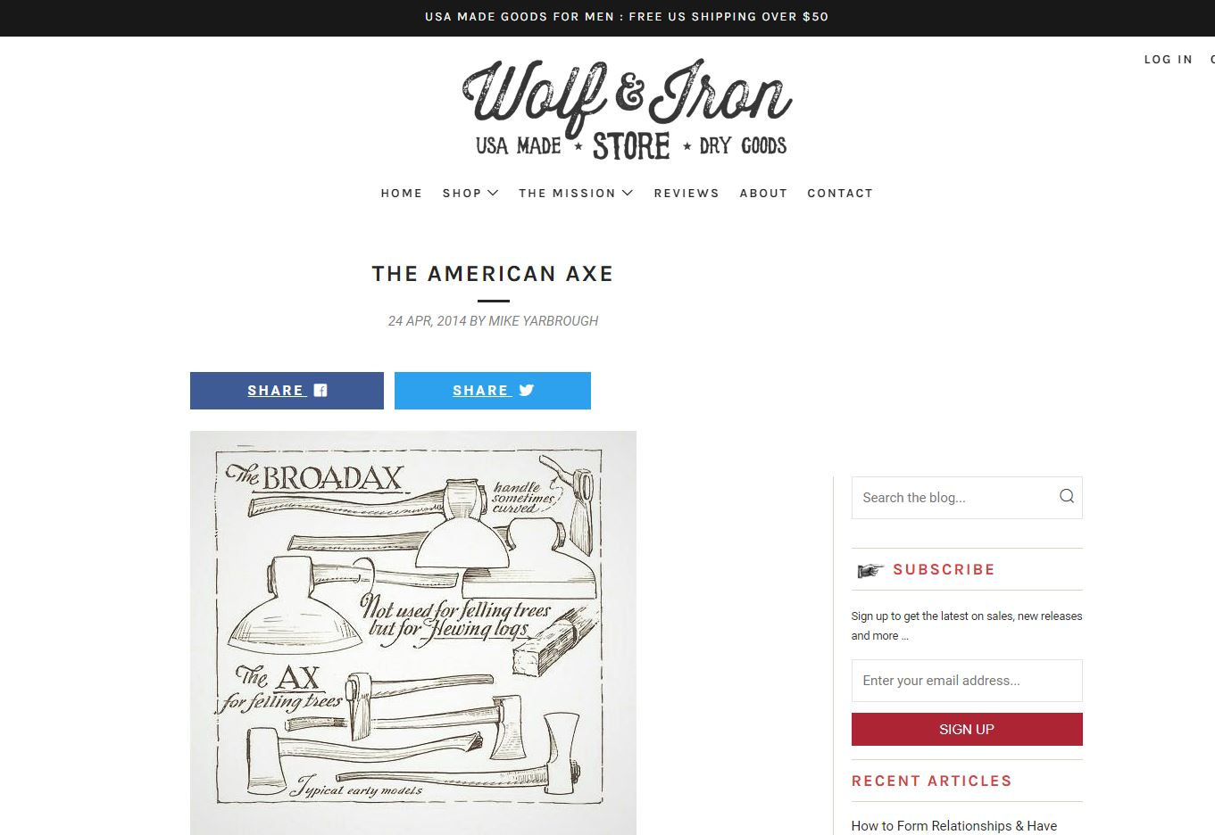 Wolf & Iron - The American AxeRead more…