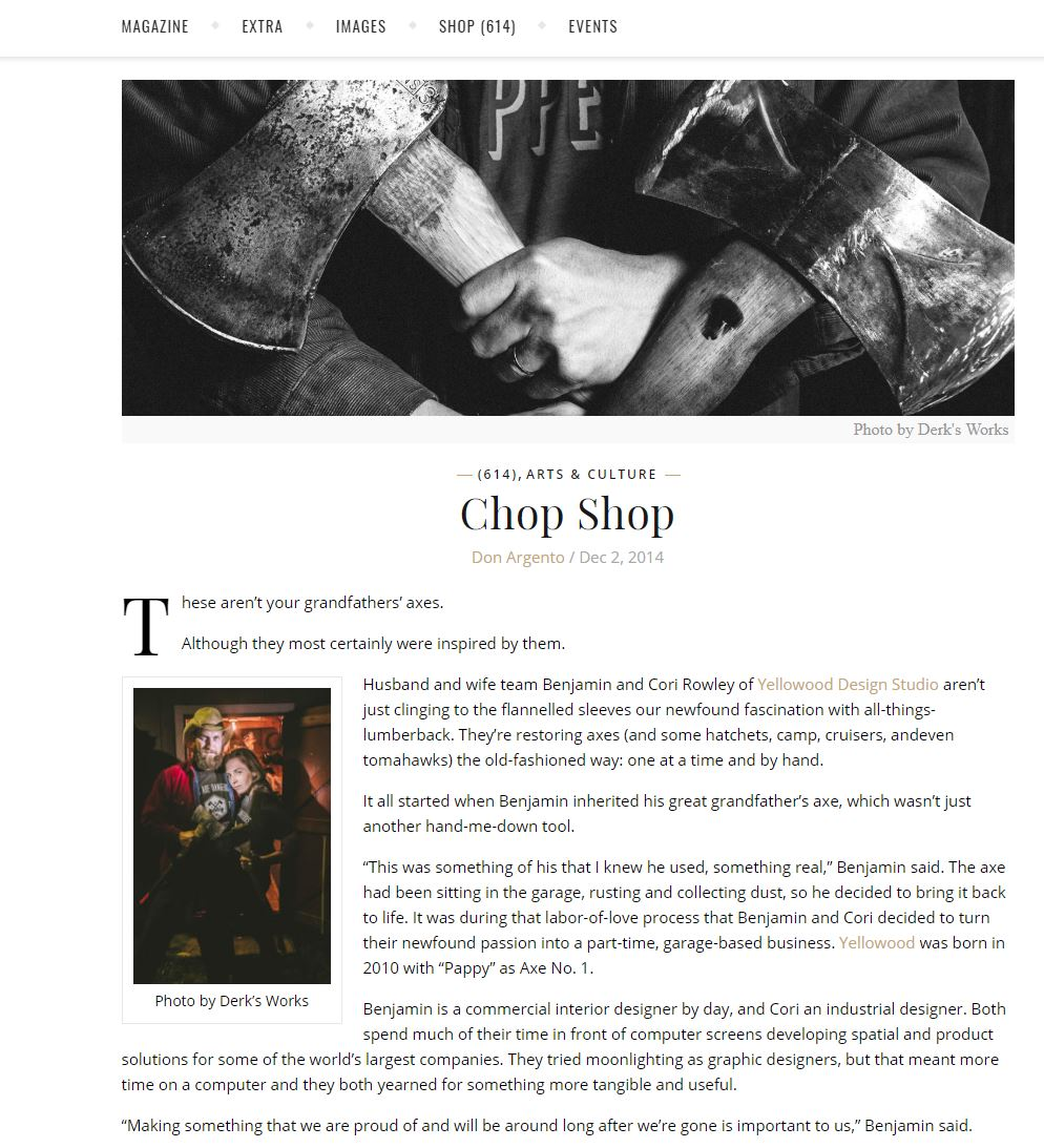 614 Magazine - Chop Shop | by Don Argento | 2014Read more…