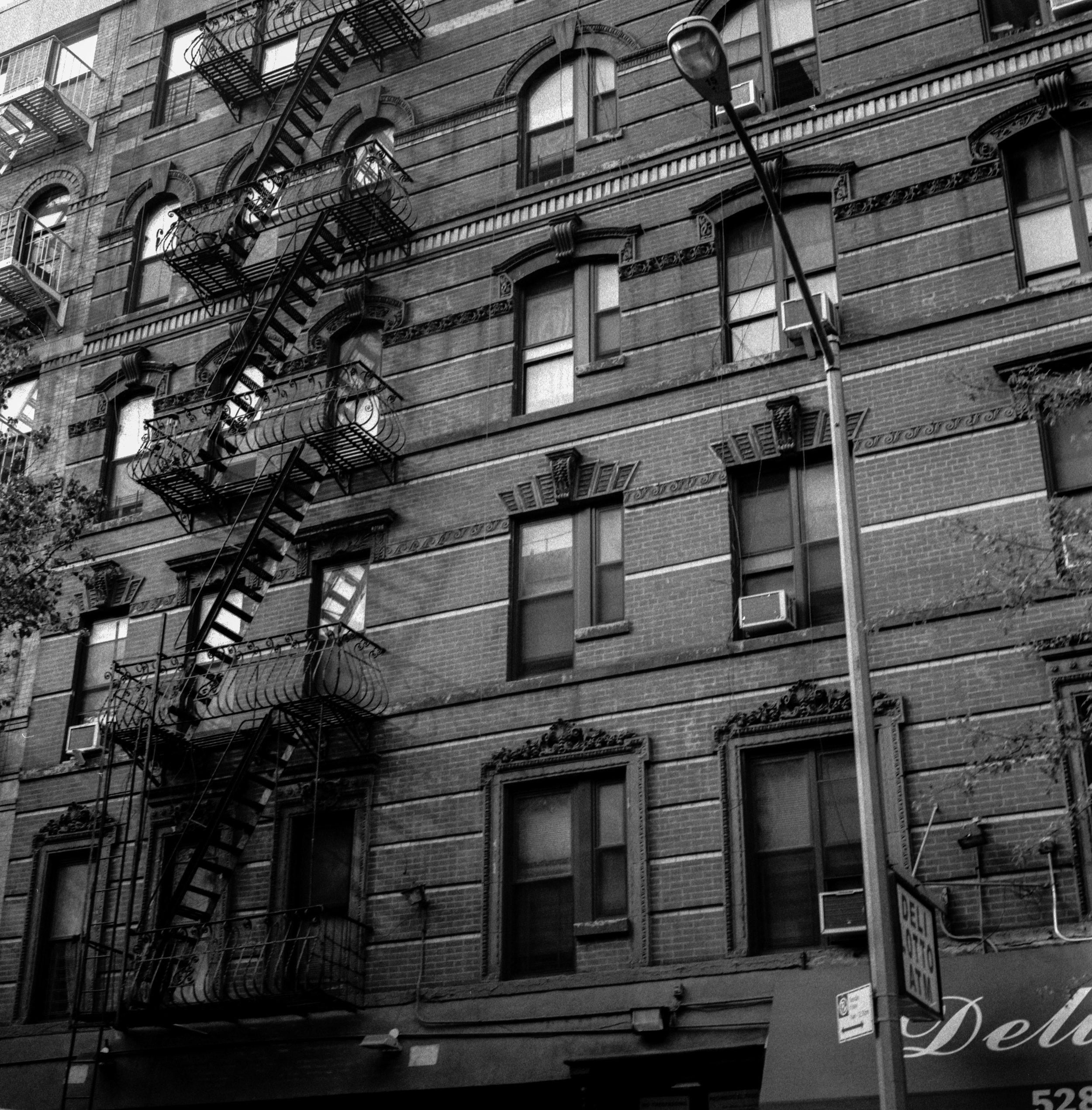New York, New York. Note the rich tonal range in the bricks.