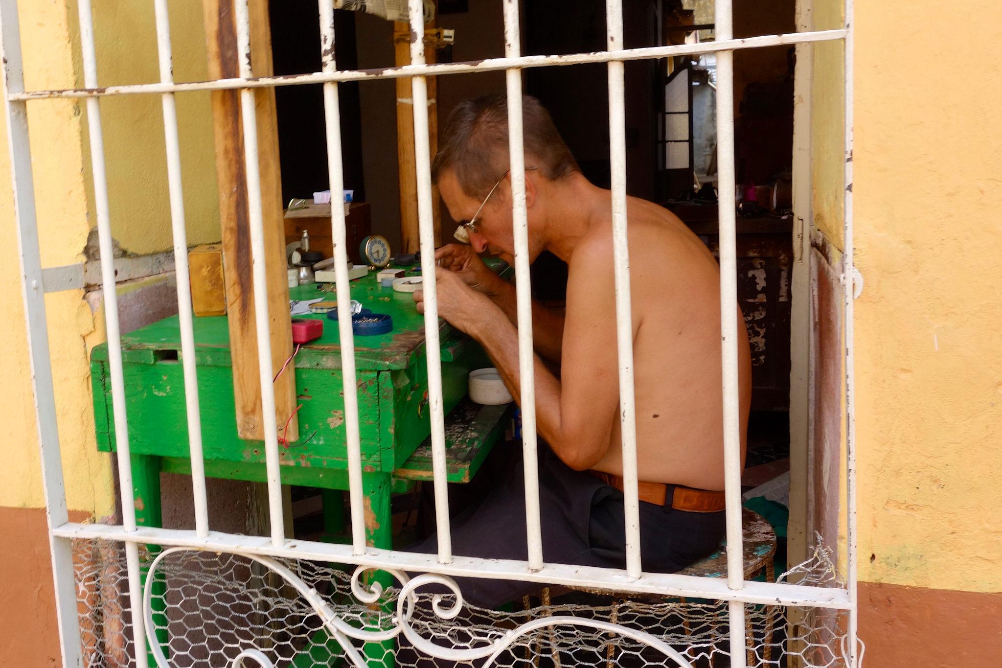 A repairman in Trinidad.