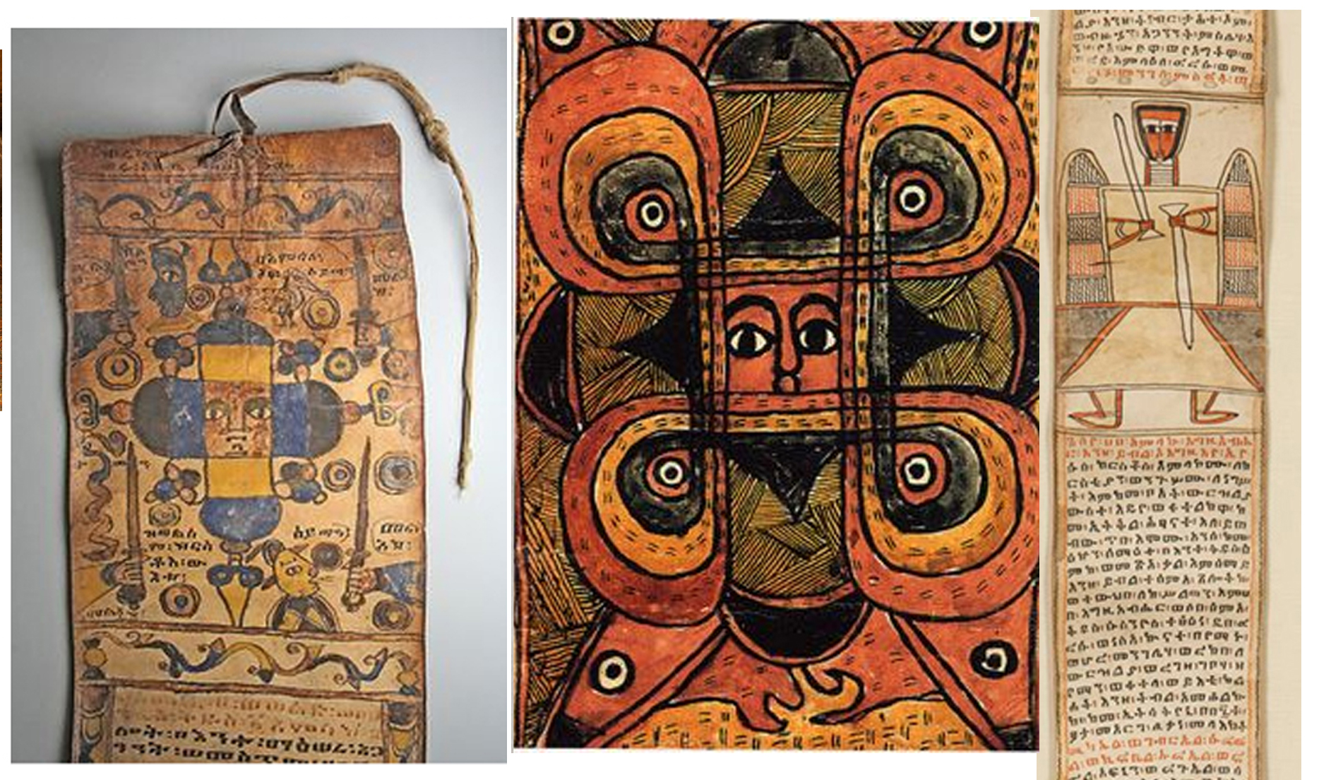 8 manuscripts ethiopian PRAYER SCROLLS.jpg