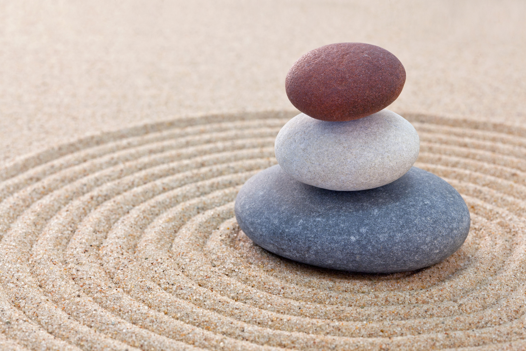 Three pebble stack zen garden Three pebble stack zen garden