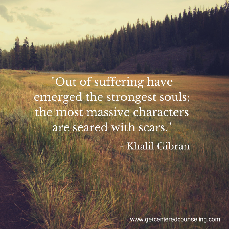 find meaning in suffering