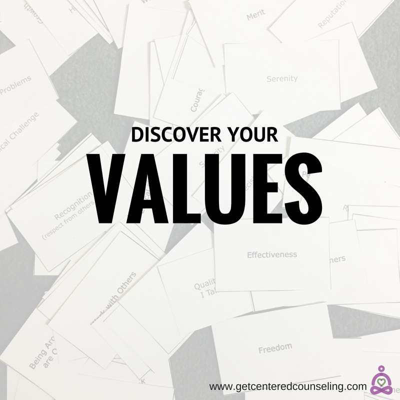 Discovering your values as a part of the therapeutic process