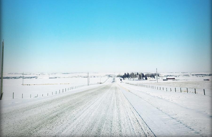 Donna's road- near Aldersyde, Alberta, Canada -