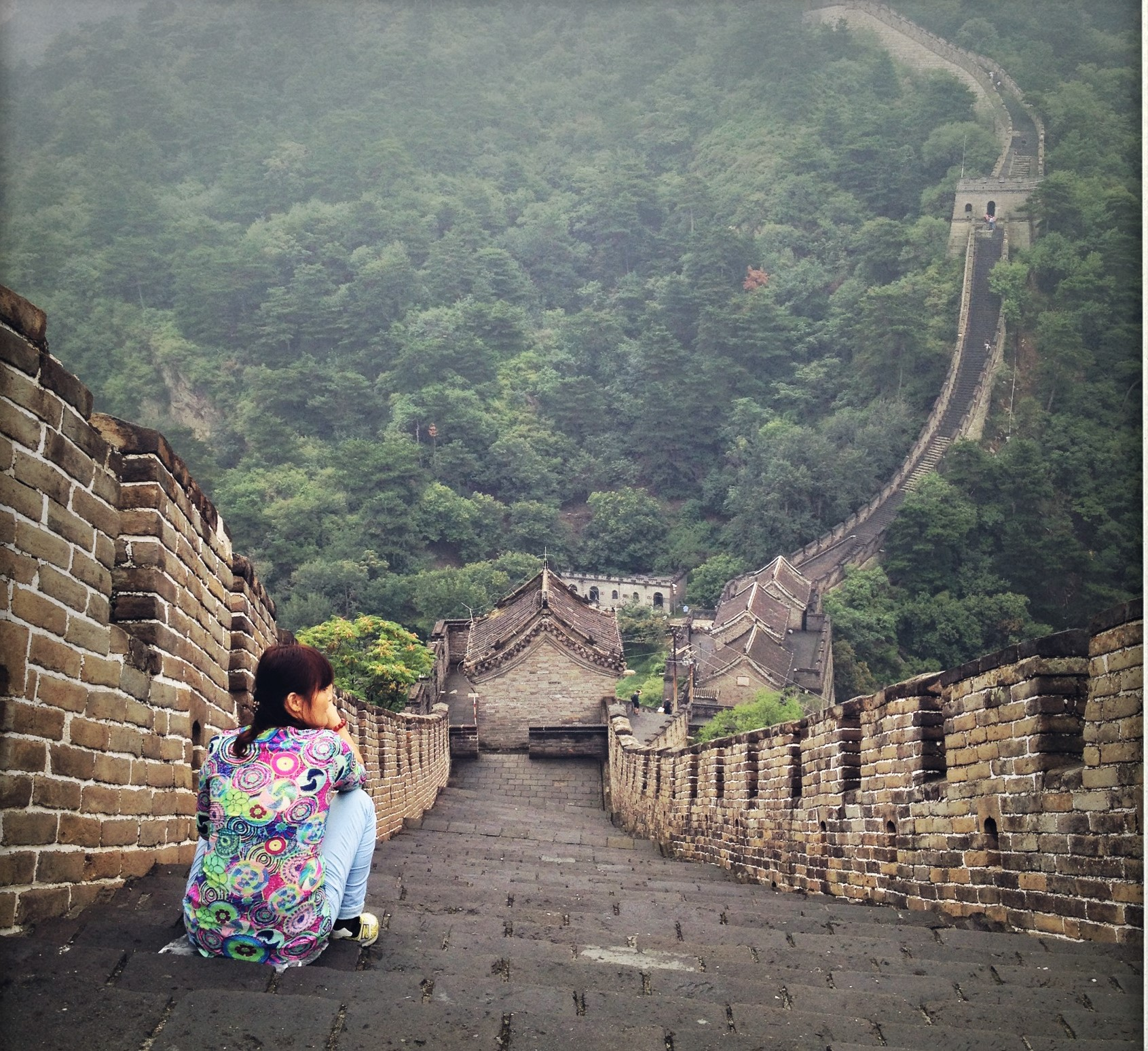 The Great Wall, on a trip to China with friends, 2014 -