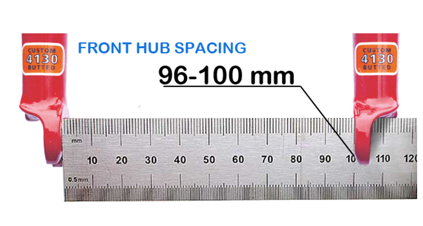 Hub spacing (front fork spacing): - Our FAST-Connector is designed to fit the majority of forks. Our product fits forks with hub spacing of 96-100 mm with standard dropouts.