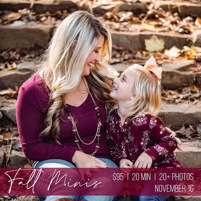 FALL MINIS time! I'll be shooting fall mini sessions November 16th in Dallas, GA! Send me a message to book your session. 🍁 🍂 🍃  #fallminis #fallphotoshoot #fallphotos