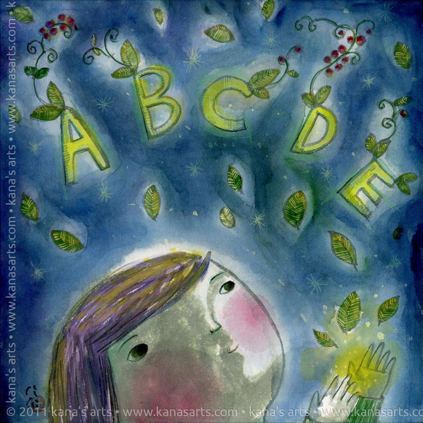 alphabet dreams, English