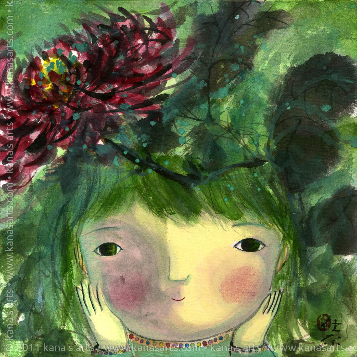 chrysanthemum on my head