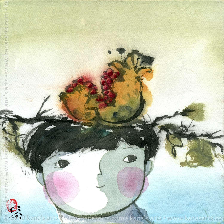 pomegranate on my head