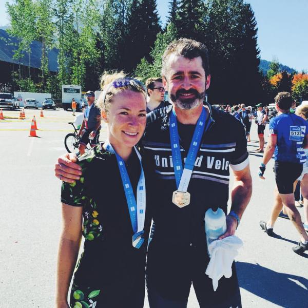 David and I at the finish