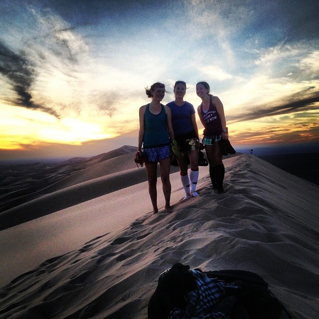 """Great example of POOR mental choices. A beautifully stunning evening on the top of a sand dune in the Gobi Desert in Mongolia and although it doesn't look like it, I was so grumpy because I was """"tired of running"""" during this running expedition"""