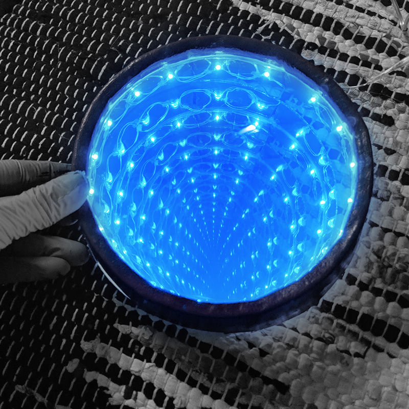 8. Putting infinity mirror pieces together and testing functionality