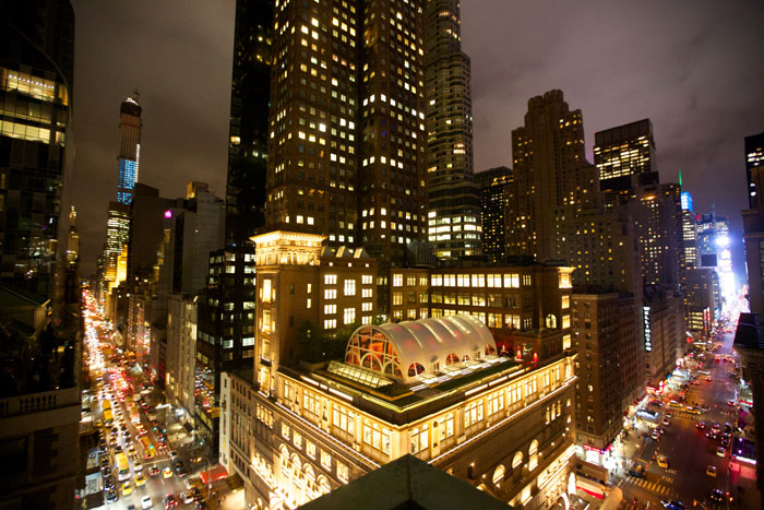 Weill Roof Terrace, the site of Carnegie Hall's post-concert dinner to celebrate its 2014-2015 Opening Night Gala.