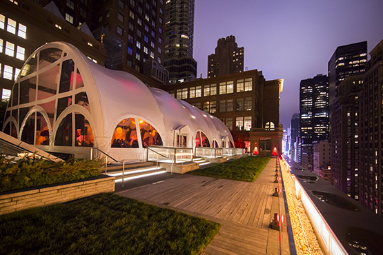 The Weill Roof Terrace and Tent, where they held a post-concert dinner