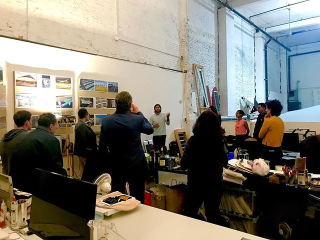 What a great time hosting @greenhomenyc at Pvilion's Dumbo design studio last night! CEO, Colin Touhey and VP, Robert Lerner shared their expertise in solar fabric design and our latest projects! Be sure to check out our upcoming solar fabric shade canopies at The New York Botanical Garden this summer. #solarfabric #solardesign #flexiblesolarpanels