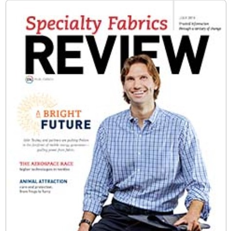 Pvilion was excited to be selected as this month's cover story; A bright future: fabrics that generate electricity for Specialty Fabrics Review Magazine, featuring Pvilion CEO, Colin Touhey, on the cover! See article link in bio #specialtyfabricsreview #solarfabric #solardesign #greenbuilding