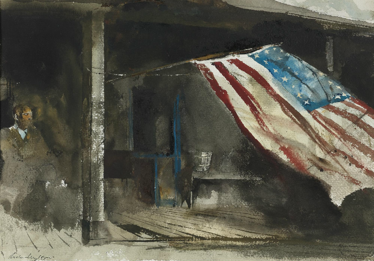 "Andrew Wyeth ""Independence Day"" 1961"