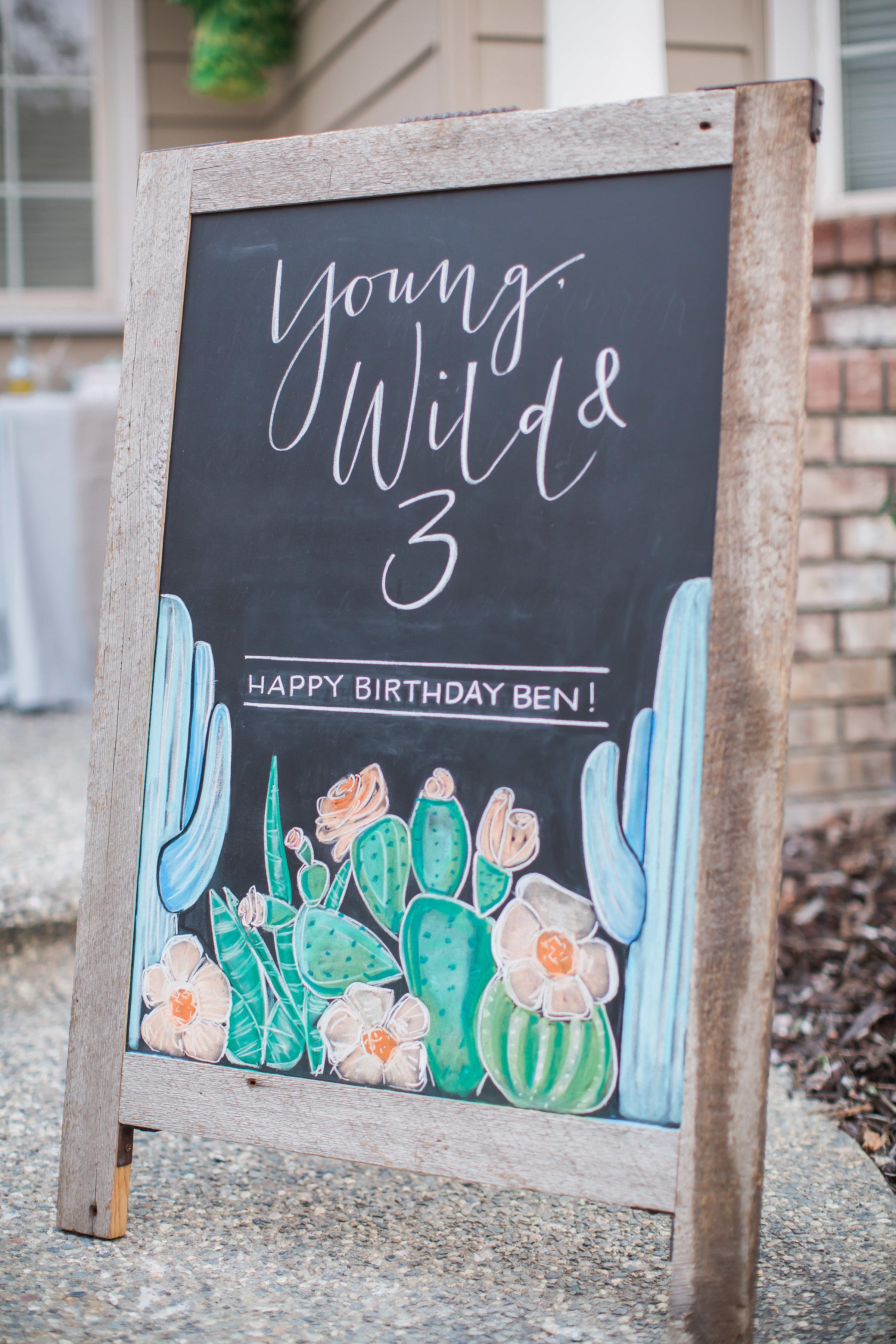 Cactus Theme 3rd Birthday