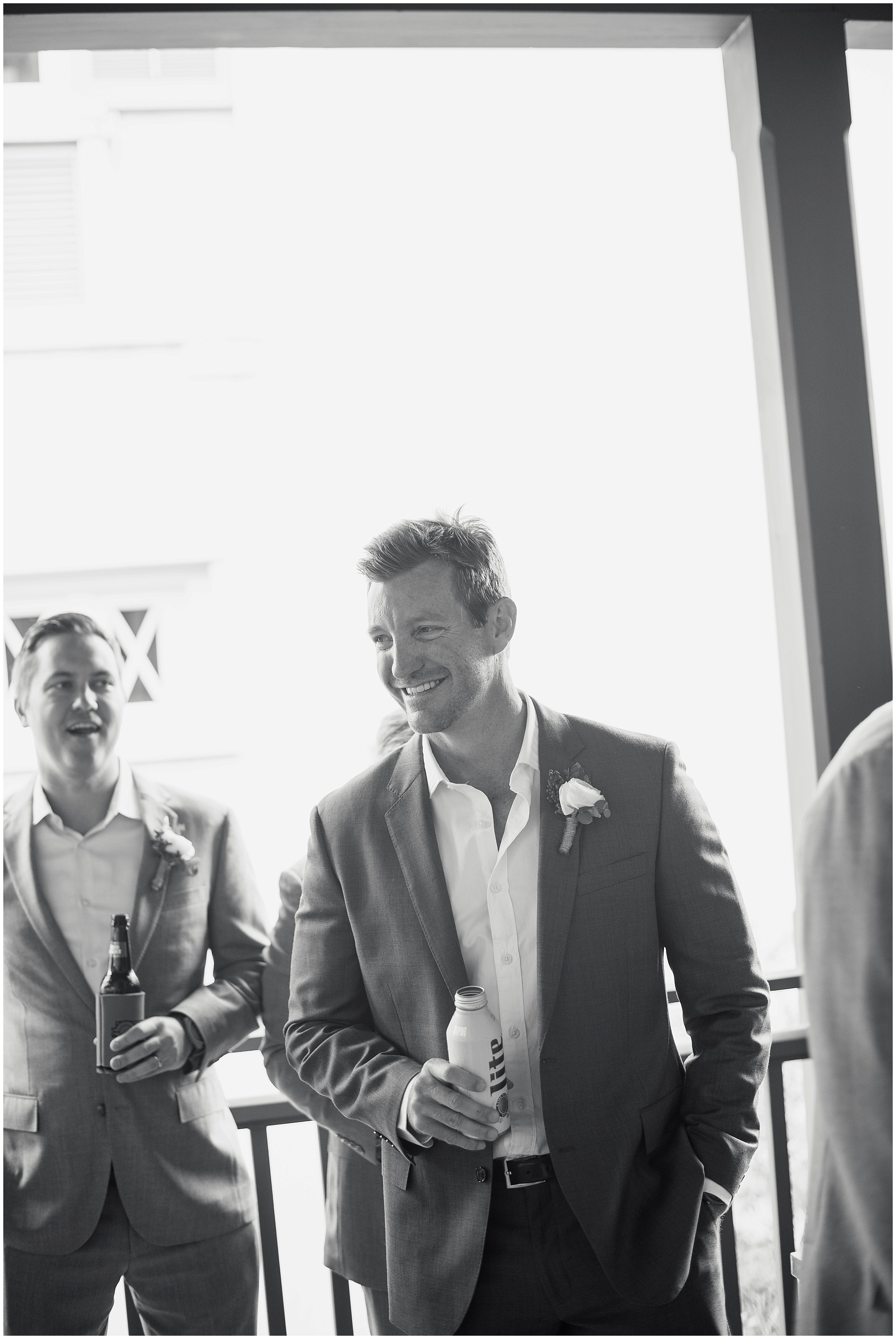 Action shot of the groom in Rosemary Beach, Florida.