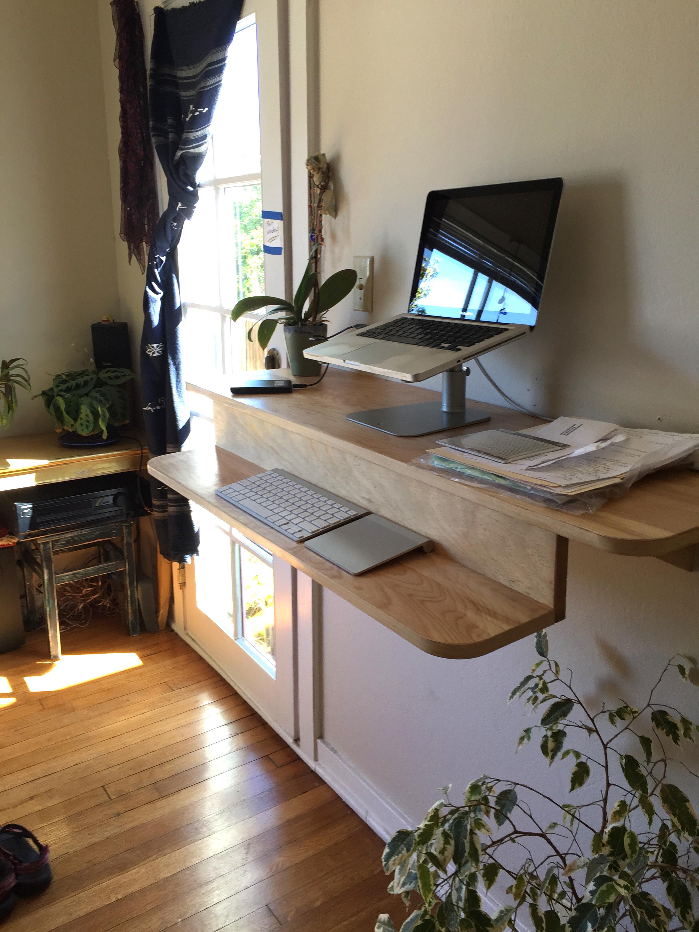 Ergonomic Standing Desk Shelf