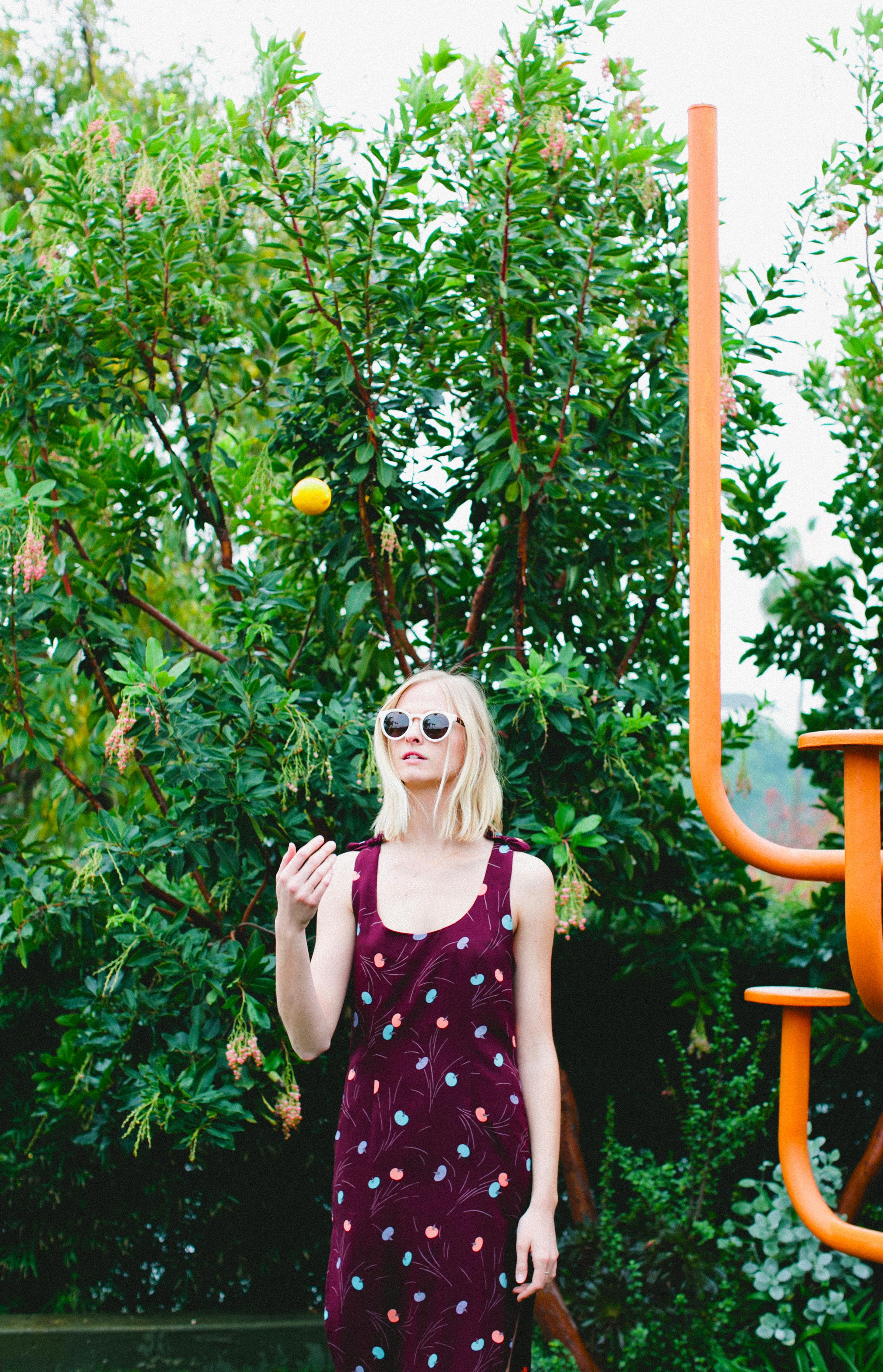 Finn Dress in Cherry