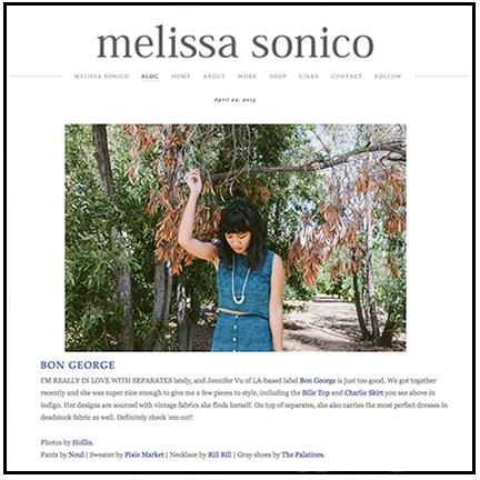 Melissa Sonico x Bon George