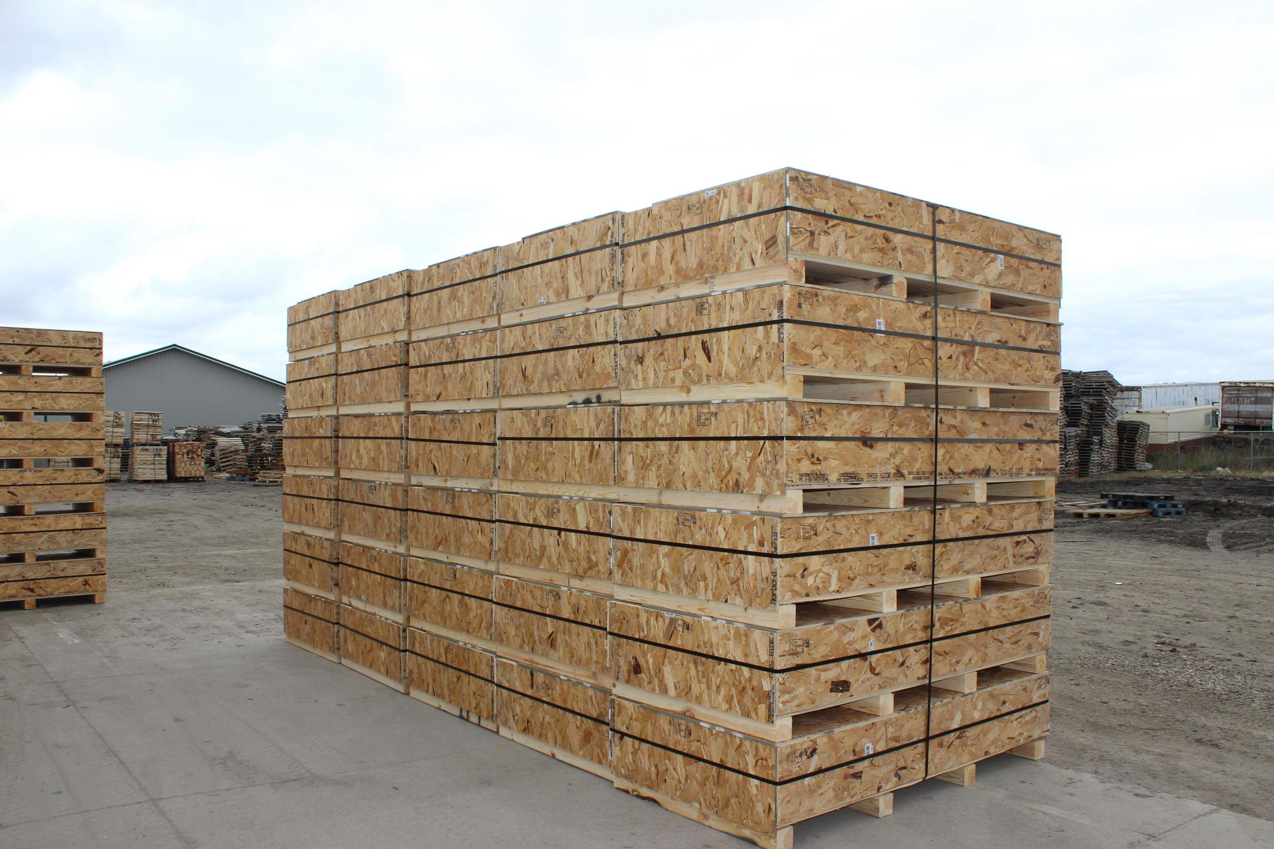 Oilfield flare crates