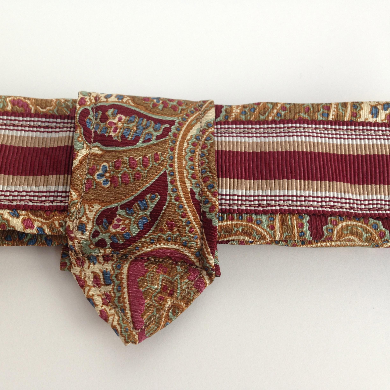 e.b.friday necktie buckle belt detail